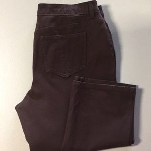 Chico's size 2 (12-14) So Slimming Jeans Brown